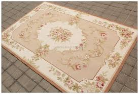 aubusson rug 4x6 shabby chic pink ivory