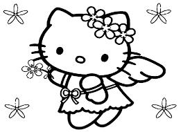 Tranh tô màu Mèo Hello Kity đáng yêu vô cùng cho bé