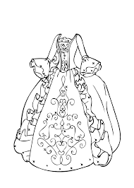 Ball Gown Coloring Page For Girls