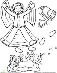Small Picture Snow Angel Worksheet Educationcom