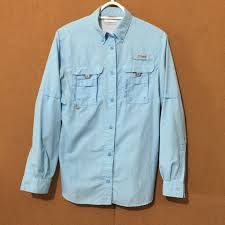 Details About Columbia Pfg Ladies Vented Fishing Shirt Button Front Convertible Sleeve Size Xs