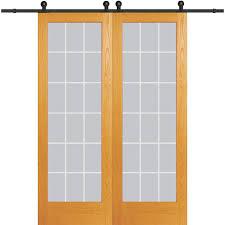 mmi door 60 in x 96 in clear 18 lite v groove