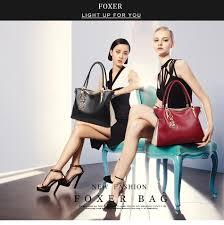 <b>FOXER Brand</b> Cowhide Leather <b>Women</b> Handbag & Shoulder bag ...