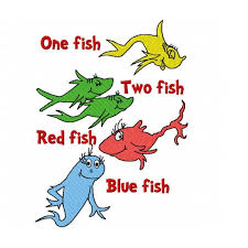 one fish two fish red fish blue fish seuss kids wall decal l stick groupon