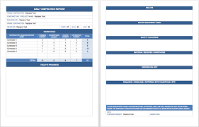 microsoft office templates smartsheet this template can be used for a daily inspection report and can easily be adapted for different projects
