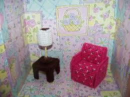 barbie furniture dollhouse. plastic canvas furniture for pink dollhouse barbie d