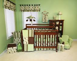 Baby Nursery Decor, Greenie Color Lively Adorable Cute Baby Boy Nursery  Themes Wooden Large Crib