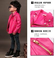 whole 2018 fashion baby boys girls faux leather jackets coat kids trendy tops outwear boys clothing autumn winter baby infant clothes direct from
