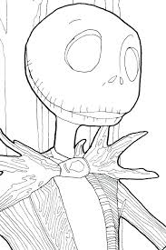 Jack And Sally Coloring Pages Free Printable Nightmare Before