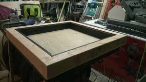 Led Coffee Table Diy Wife Needed A New Table What He Built Her Was The Last Thing She
