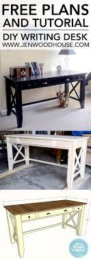 i love this diy writing desk she shows you how to bathroomcute diy office homemade desk plans furniture