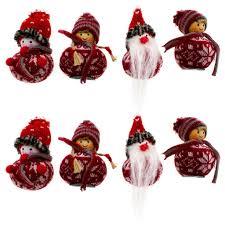 8 X Weihnachtswichtel Aus Holz Zum Hängen 8 Cm Wichtel Baumschmuck Weihnachtsbaumschmuck Christbaumschmuck Wichtelchen Baumhänger