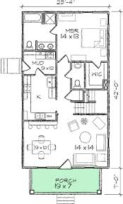 plan 10030tt narrow lot bungalow home