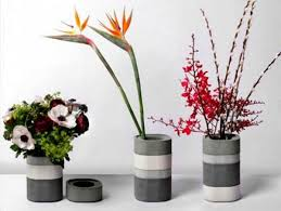 decorative vases made of cement