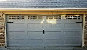 garage door panel with windows