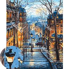 A wide variety of canvas oil paint numbers colors painting options are available to you, such as subjects, style, and support base. Huacan Painting By Numbers Scenery Diy Oil Coloring By Numbers Street Landscape Canvas Paint Art Pictures Home Decor Paint By Number Aliexpress