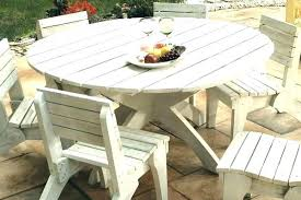 round wood outdoor table round wooden outdoor table round patio table and chairs fabulous white wood