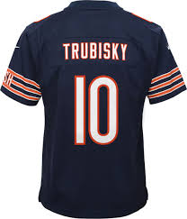 Mitchell Nike Chicago Game Youth Home Bears Jersey 10 Trubisky cdabebaaaa Robinson Athletic News