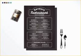 Chalkboard Menu Templates Free Publisher Menu Templates Of Chalkboard Restaurant Menu