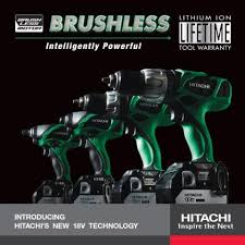 hitachi power tools. 18v brushless lithium ion technology- now available from hitachi power tools! (photo: tools o