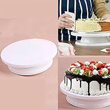 Diy Plate Display Stand Interesting Amazon Raza NEWDIY Cake Decorating Turntable Rotating