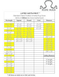 area rug sizes chart rug size chart for standard sizes