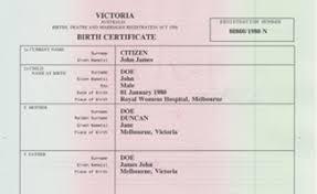 澳洲出生证所需文件
