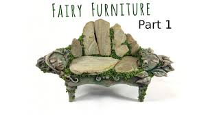 how to make fairy furniture out of clay rocks part 1 diy fairy garden bench you