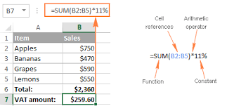 creating formulas in excel excel formulas with examples