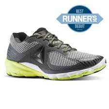 reebok mens running shoes. reebok - harmony road solid grey / black white solar yellow bd4905 mens running shoes e