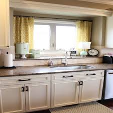 Bay Window Kitchen Kitchen Window Curtain Ideas Kitchen Window Treatments On