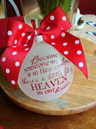 Because Someone We Love Is In Heaven Personalized Custom Christmas  Ornament, Remember a Lost Loved One at Christmas. Maybe you could get  something like this ...