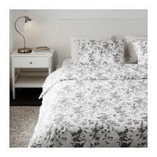 bed cover sets. ALVINE KVIST Duvet Cover And Pillowcase(s), White, Gray Bed Sets