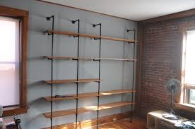 lovely diy pipe and wood shelves 5 diy wood shelving units connected with pipes shelterness