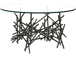 black metal accent table round satin and glass curls furniture nest coffee kitchen charming r