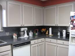 pressed metal furniture. Simple Kitchen Ideas With 2 Pressed Metal Tin Tile Backsplash, Black Furniture