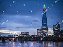 The Shard London Christmas Lights Shard Building Lights Christmas Editorial Stock Photo