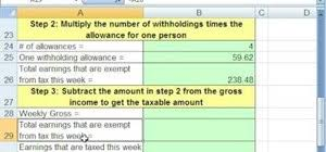 How To Calculate Income Tax Payroll Deductions In Ms Excel