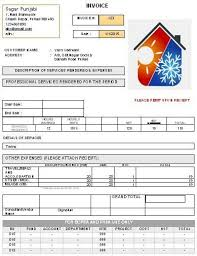 Hvac Invoice Templates Best Free HVAC Invoice Template Download HVAC Invoice Templates