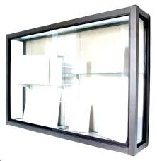 wall mount glass display case small wood mounted cabinet locking