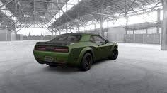 2018 dodge f8 green. modren 2018 rear view 2018 dodge srt challenger demon in f8 green with painted black  satin graphics package  pinterest srt and  in dodge f8 green d