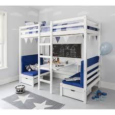 bunk bed. Contemporary Bunk Max Bunk Bed With Table And Sleep Centre Blue Cushions On R