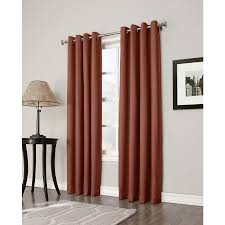 allen roth bandley 84 in brick polyester grommet blackout single curtain panel