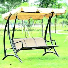 3 seat patio swing black metal garden swing hammock 3 patio chair