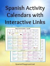 Spanish Activity Calendars For Kids - Spanish Playground