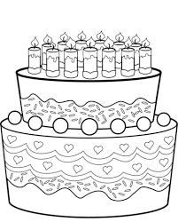 Verjaardagstaart Kleurplaat Gratis Kleurplaten Printen