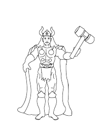 Small Picture Thor Coloring Pages To Print Images Pictures 28098