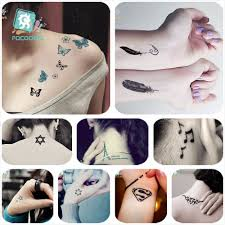 Shopping Tattoos Designs Us 1 21 19 Off Mixed 25 Classical Small Tattoo Designs Arabic Numerals Tower Butterfly Tatoo Waterproof Fake Body Temporary Tattoos Sticker In