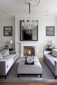 White Furniture In Living Room White And Grey Living Space Love The Sofas Facing Each Other With