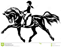 horse riding clipart black and white. Exellent Riding Kid Rider On Horse Riding Clipart Black And White K